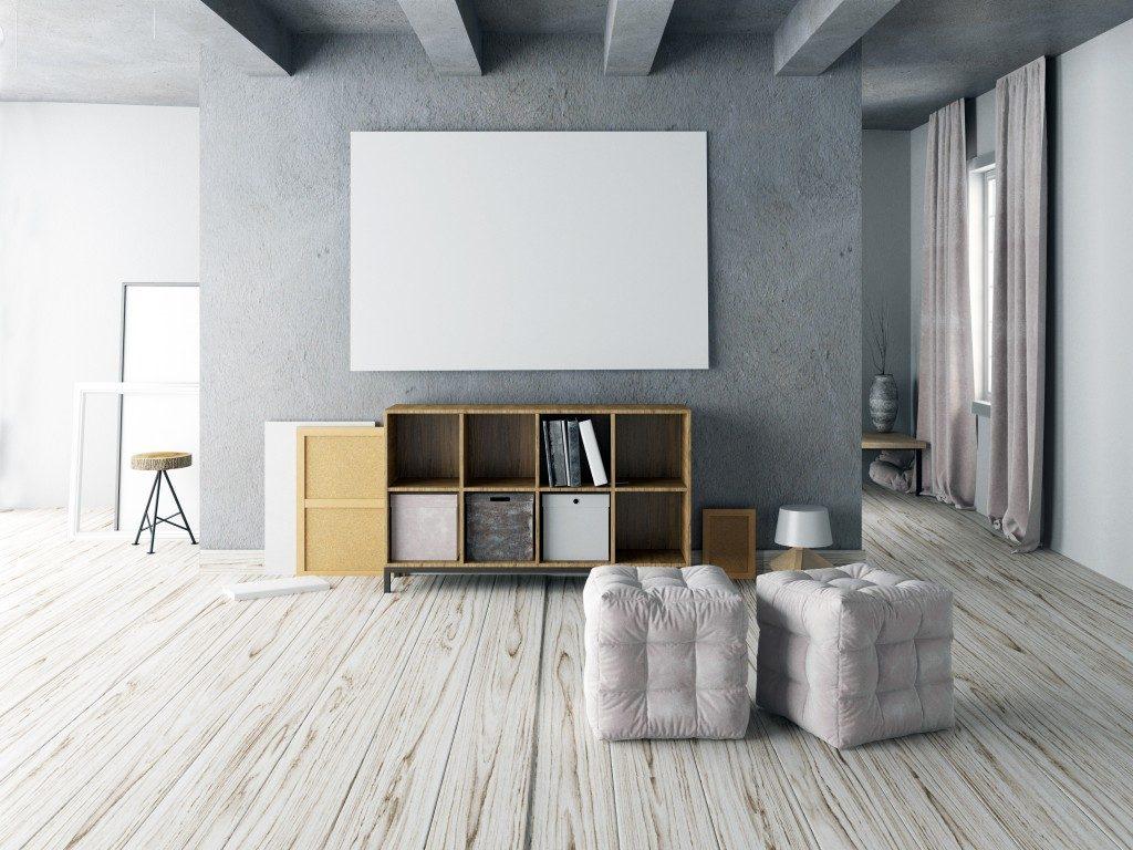 wooden flooring in a home studio