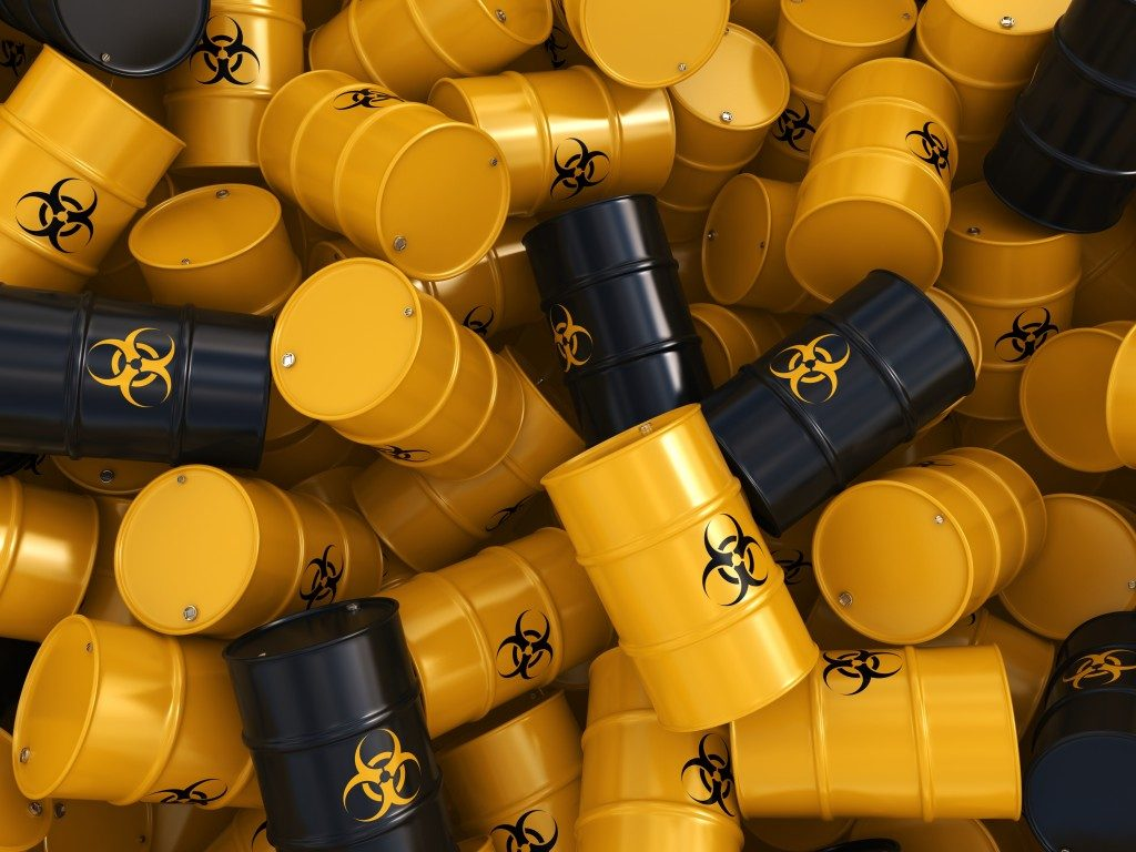 Hazardous chemical barrels