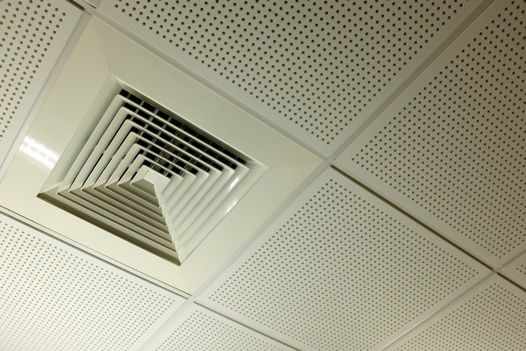 Air duct in office
