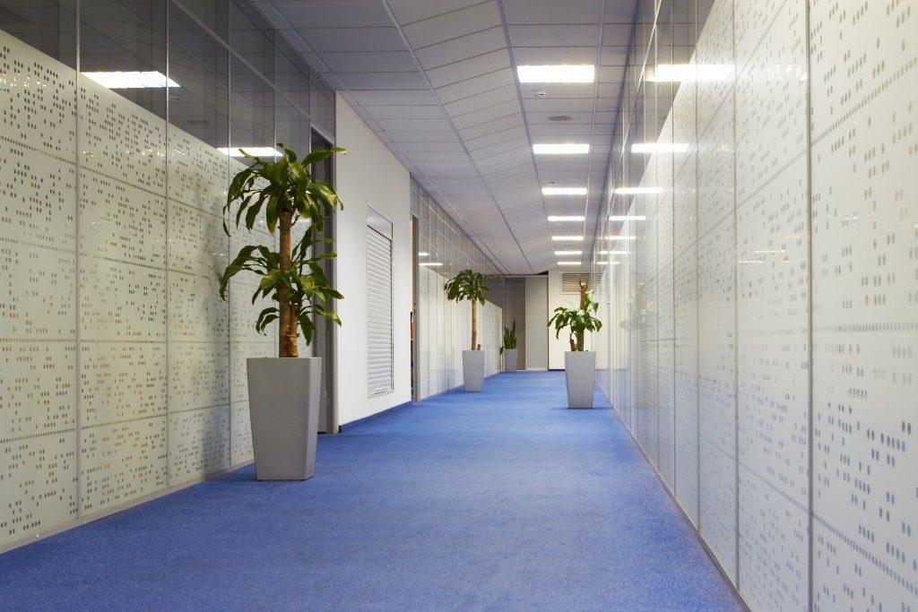 hallway with a floor mat