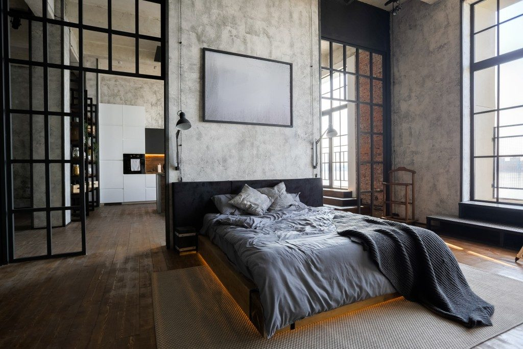 modern room with dark colors