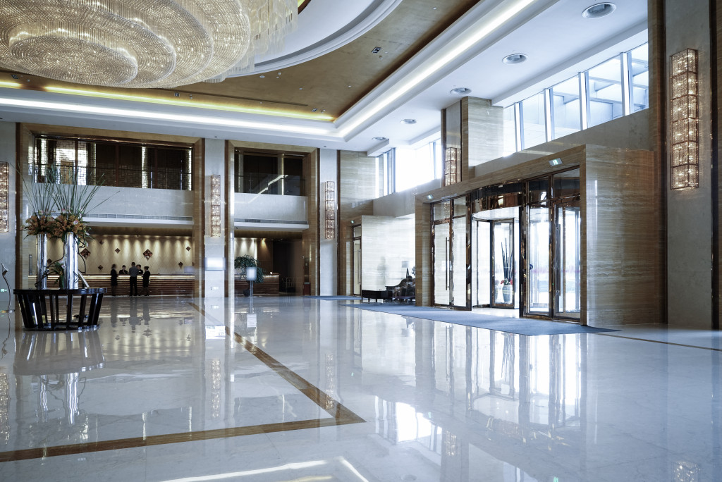 Reception area of hotel