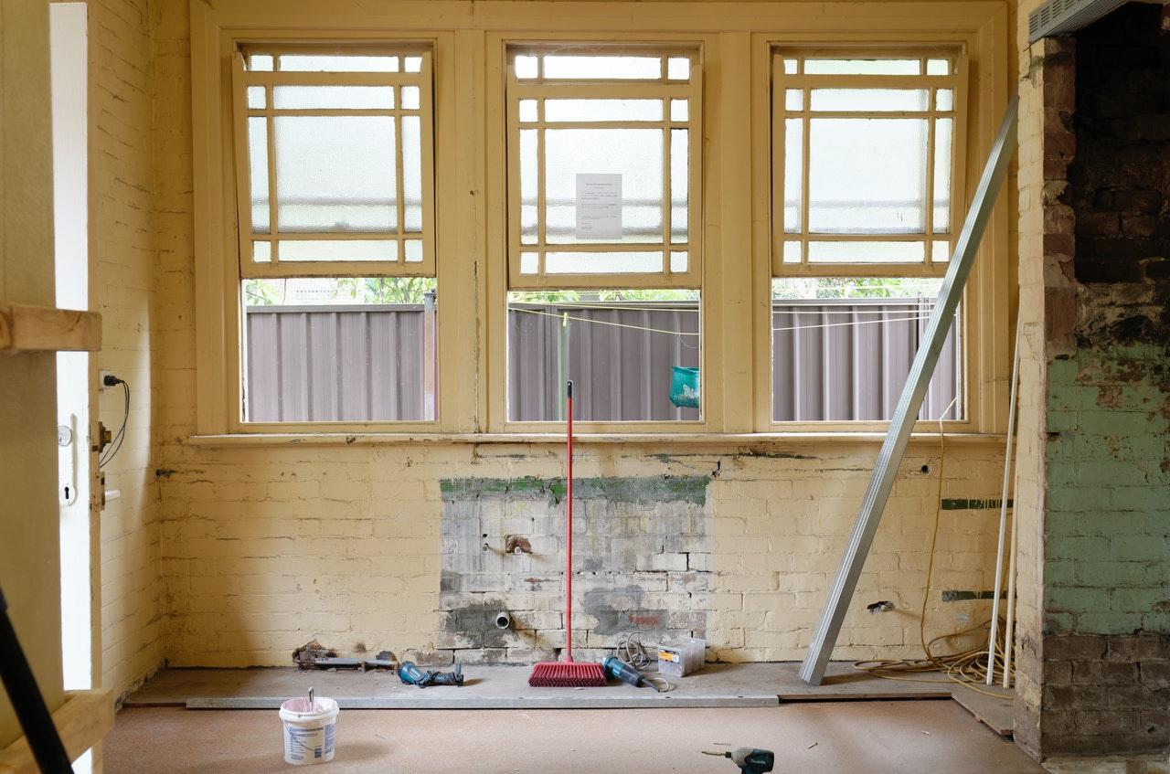 a room under renovation