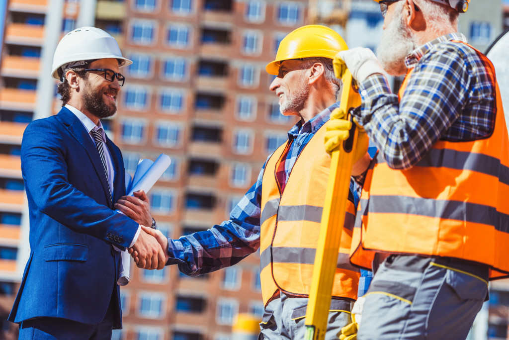 businessman and contractors