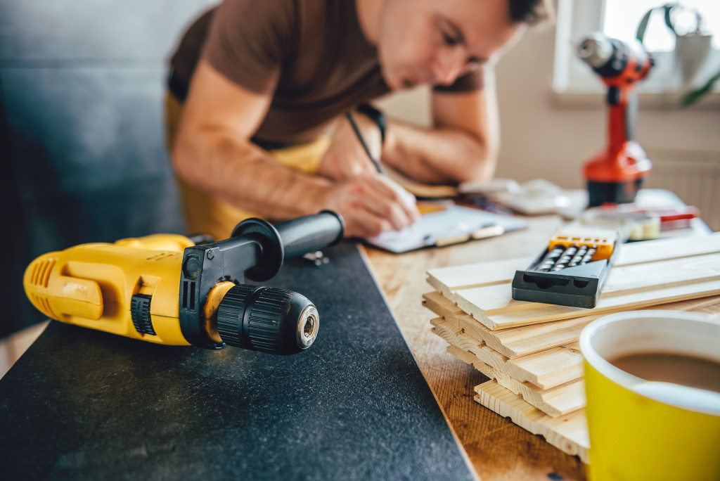 man planning a home improvement project